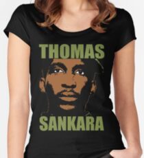Thomas Sankara-3 Women's Fitted Scoop T-Shirt