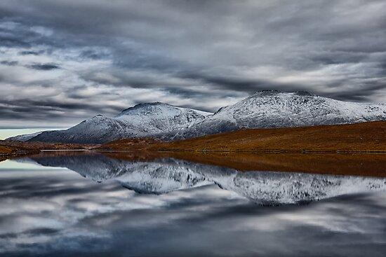 Scottish Mountain Reflections in Winter by derekbeattie