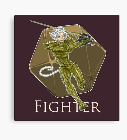 Dungeons and Dragons Fighter Canvas Print