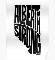 Alberta Strong (Black) Poster
