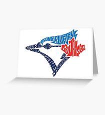 Toronto Blue Jays (Blue) Greeting Card