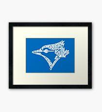 Toronto Blue Jays (white) Framed Print