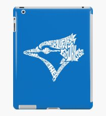 Toronto Blue Jays (white) iPad Case/Skin