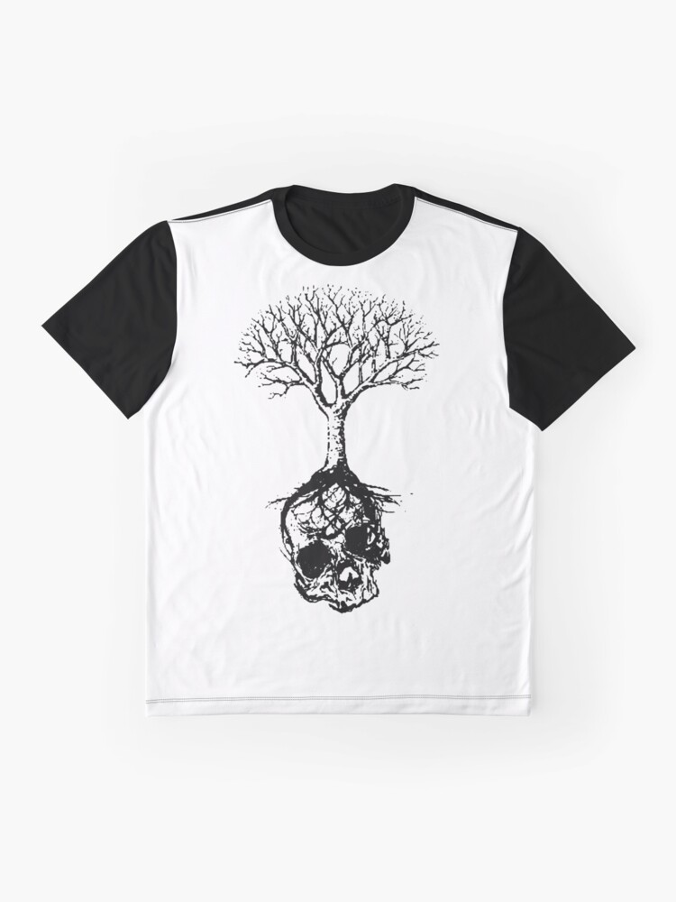 Alternate view of Skull and Tree Graphic T-Shirt Graphic T-Shirt