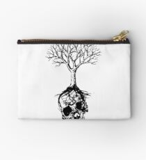 Skull and Tree Graphic T-Shirt Studio Pouch