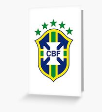 Brazil Soccer Logo Greeting Card