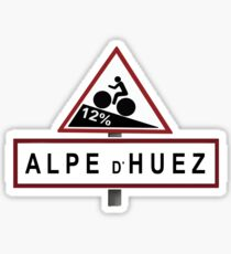 Alpe d'Huez Road Sign Cycling Sticker