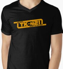 TK-421 Mens V-Neck T-Shirt