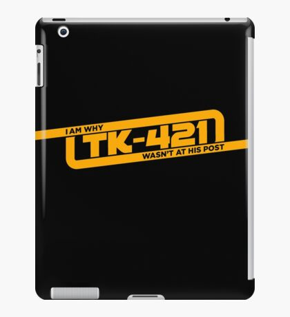 TK-421 iPad Case/Skin