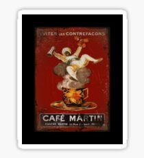 Cafe Martin Coffee Genie Coffee Sticker