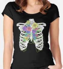 Pastel Flower Cage Women's Fitted Scoop T-Shirt