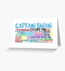Captain Swan Quote Spam  Greeting Card