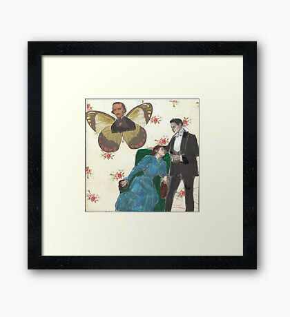 Poe Butterfly(please read description of this work) Framed Print