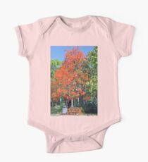 Flame Tree in Flower One Piece - Short Sleeve