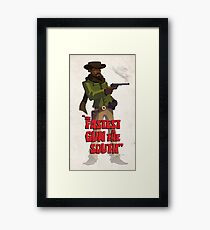 The fastest gun in the south Framed Print