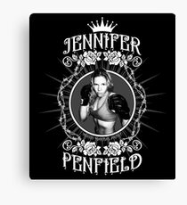Jennifer Penfield Mixed Martial Artist promotional desgin Canvas Print