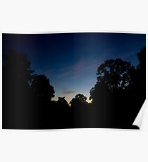 Sunset in Blue Poster