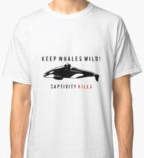 Halten Sie Wale Wild Classic T-Shirt