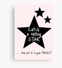 Catch a Falling Star - Pink Canvas Print