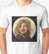 Frans Hals - Laughing Child 1620. Child portrait: cute baby, kid, children, pretty angel, child, kids, lovely family, boys and girls, boy and girl, mom mum mammy mam, childhood T-Shirt