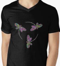Dragonfly Trio T-Shirt Mens V-Neck T-Shirt