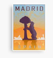 Madrid vintage poster Metal Print