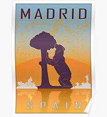 Póster Cartel vintage de Madrid