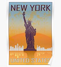 New York vintage poster Poster