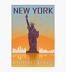 New York Vintage Poster Fotodruck
