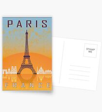 Paris vintage poster Postcards