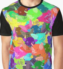 Day-Glo Bats Graphic T-Shirt