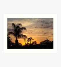 Fast Moving Clouds at Sunset Art Print