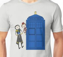 Two Madmen with a Blue Box Unisex T-Shirt