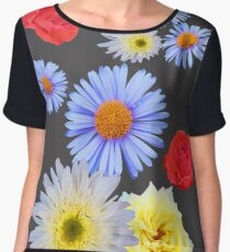 Colorful flowers like living Chiffon Top