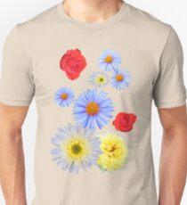 Colorful flowers like living Unisex T-Shirt