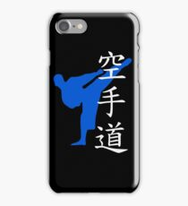 Karate Do Kanji (Blue) iPhone Case/Skin