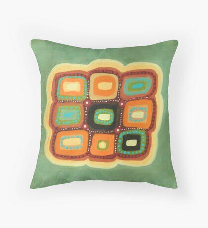 Mount Kosciuszko lichen Throw Pillow