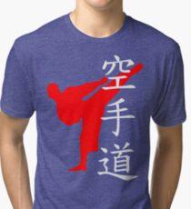 Karate Do Kanji (Red)  Tri-blend T-Shirt