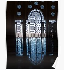 Hassan II Mosque window Poster