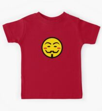 Anonymous Vendetta Smiley Kids Tee