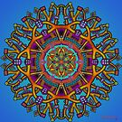 Mandala Throw Pillow by Mandala Jim by mandala-jim