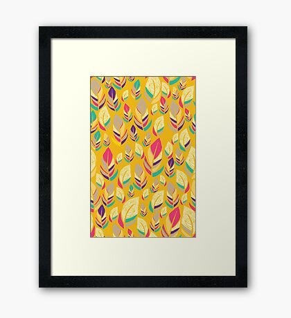 Dancing Feathers Framed Print