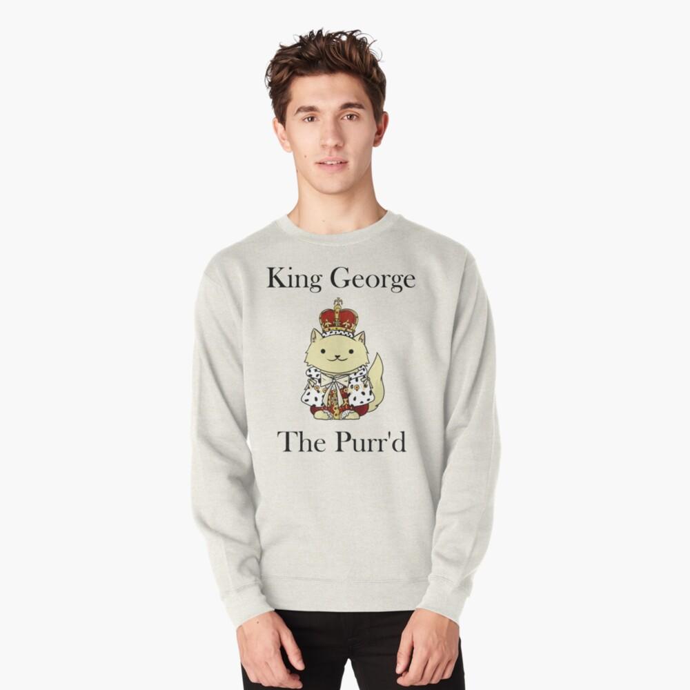El rey Jorge el Purr'd Sudadera sin capucha