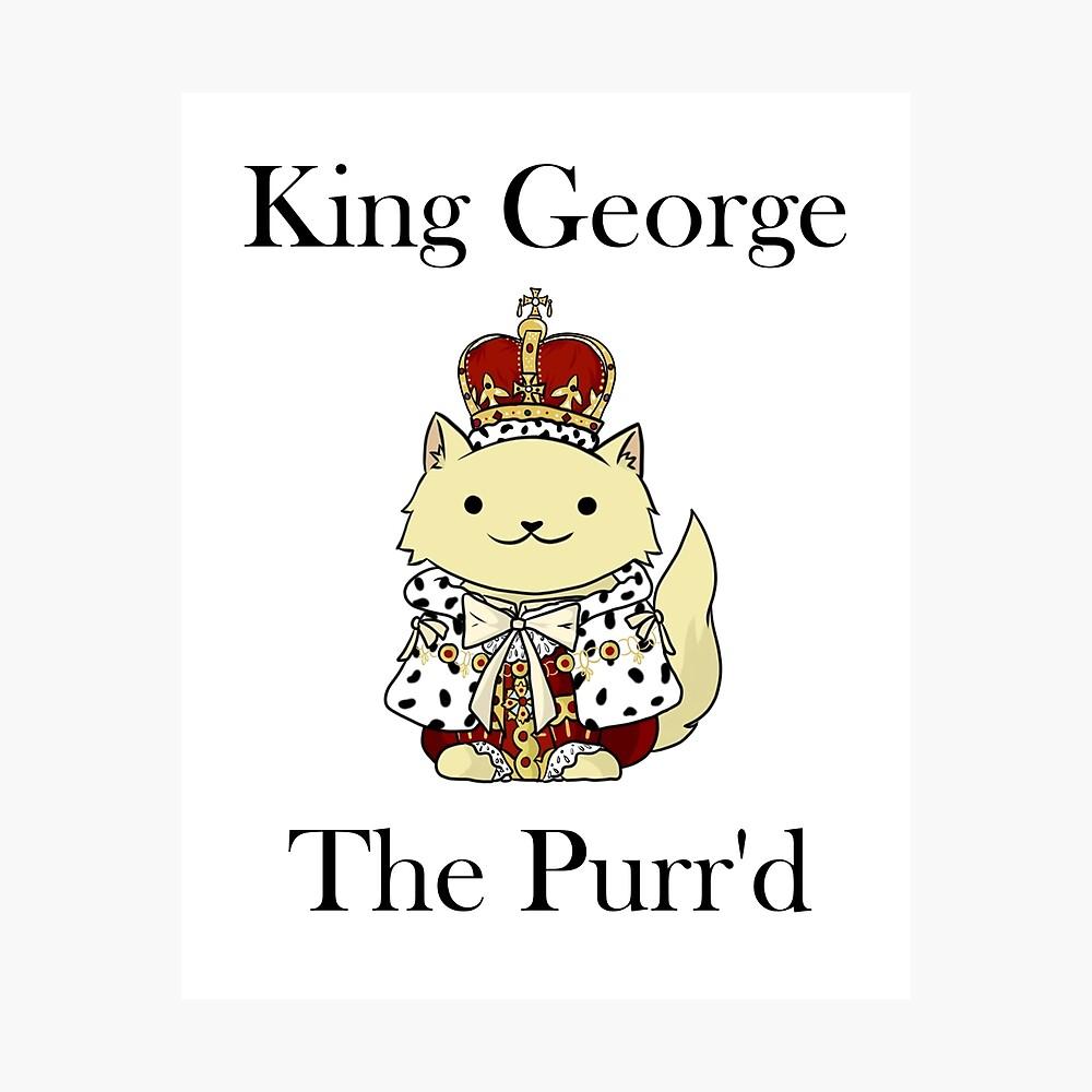 El rey Jorge el Purr'd Lámina fotográfica