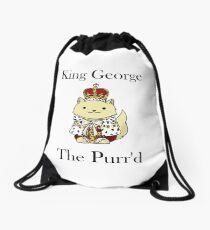 King George the Purr'd Drawstring Bag