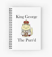 Cuaderno de espiral El rey Jorge el Purr'd
