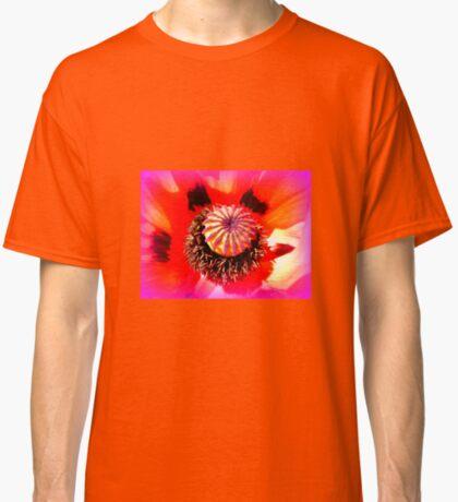 Oriental Poppy Portrait Classic T-Shirt