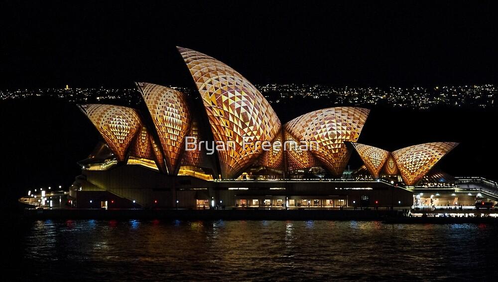 Mosaic Sails - Sydney Opera House - Sydney Vivid Festival by Bryan Freeman