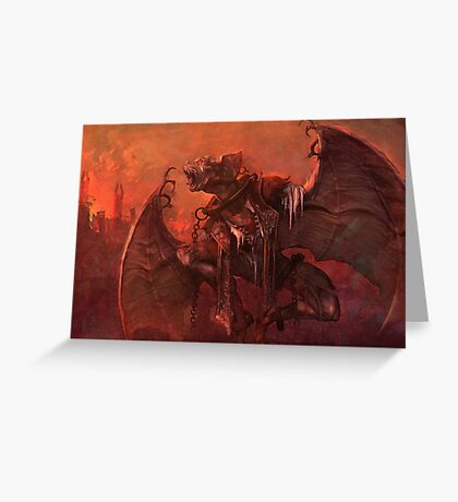 Vampiric Transformation Greeting Card