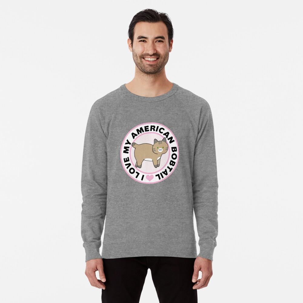 American Bobtail Cat Lover T-Shirts Lightweight Sweatshirt Front